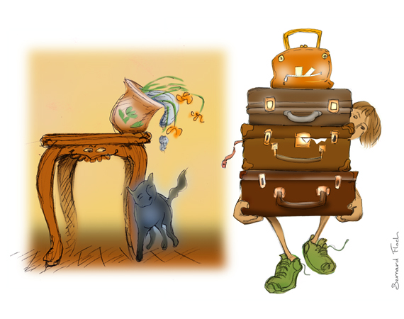 Chat et Table - Bagages